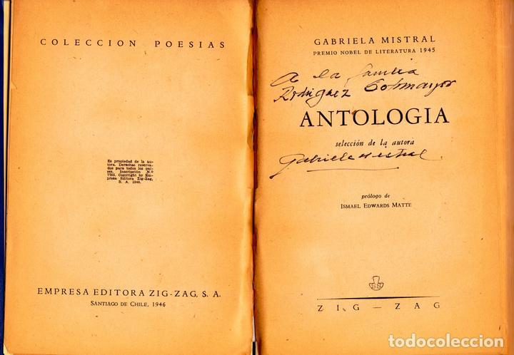 Primera edición de la Colección de Poesías de Gabriela Mistral