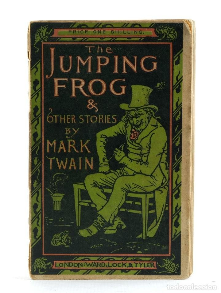 Primera edición de The jumping frog de Mark Twain