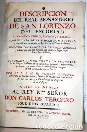 Descripción del Real Monasterio de San Lorenzo del Escorial