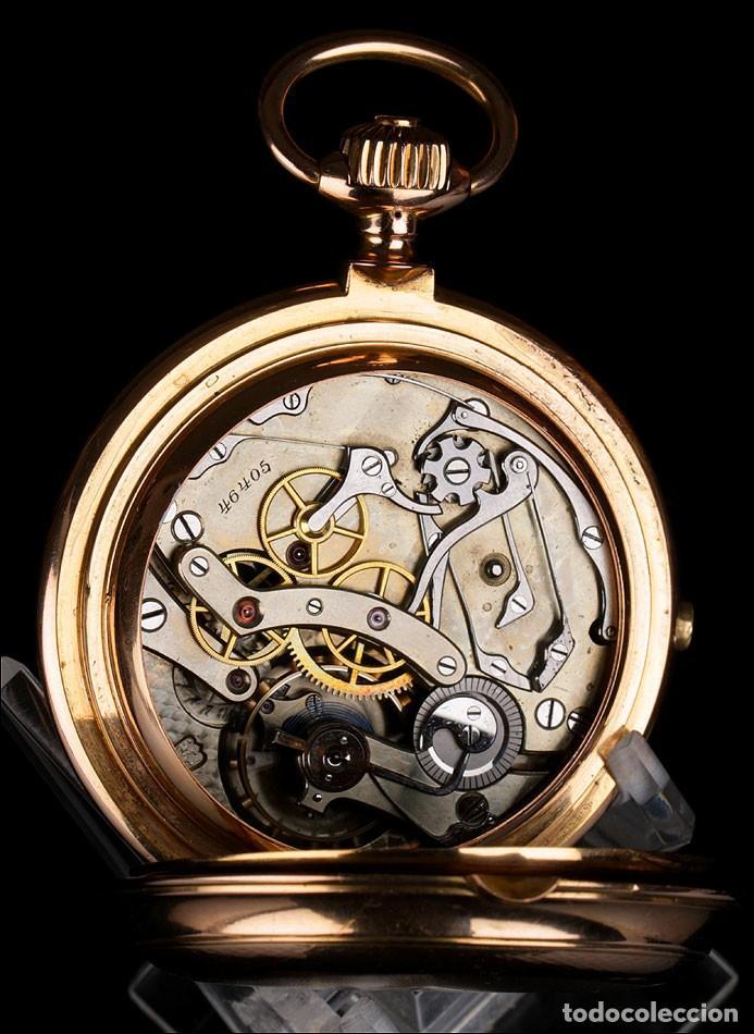 Interior de un reloj de bolsillo