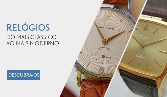 Relógios clássicos e modernos