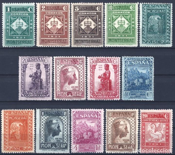 Serie de sellos IX Centenario de la Fundación de Montserrat