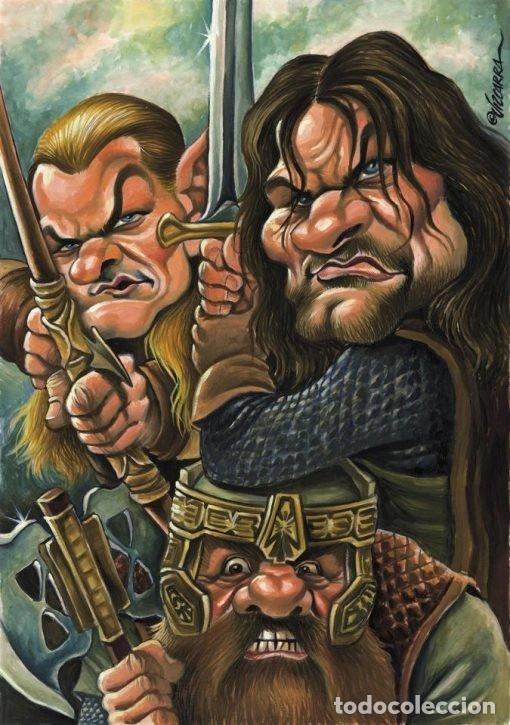 Caricatura de El señor de los anillos