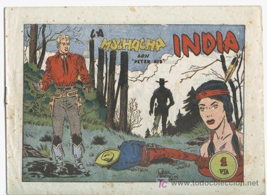 PETER KID EL TIGRE DEL FAR WEST Nº 24,BUEN ESTADO, MUY DIFICIL, ORIGINAL, EDI. AMELLER 1951 (Tebeos y Comics - Ameller)