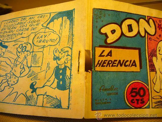 Tebeos: COMIC, DON TRIQUI, EDITORIAL AMELLER, Nº 1, ORIGINAL, LA HERENCIA - Foto 2 - 22543691