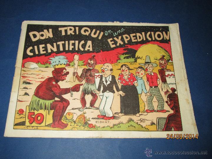 DON TRIQUI Nº 11 EN UNA CIENTIFICA EXPEDICIÓN DE AMELLER EDITOR - AÑO 1940S. (Tebeos y Comics - Ameller)