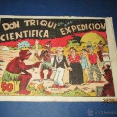 Tebeos: DON TRIQUI Nº 11 EN UNA CIENTIFICA EXPEDICIÓN DE AMELLER EDITOR - AÑO 1940S.. Lote 45397257