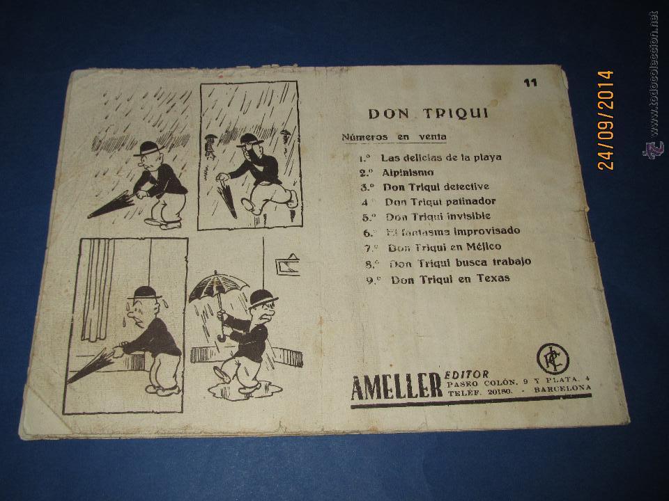 Tebeos: DON TRIQUI Nº 11 en Una Cientifica Expedición de AMELLER Editor - Año 1940s. - Foto 2 - 45397257