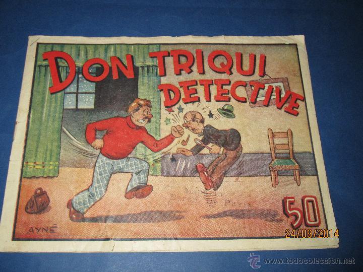 DON TRIQUI Nº 3 EN DETECTIVE DE AMELLER EDITOR - AÑO 1940S. (Tebeos y Comics - Ameller)