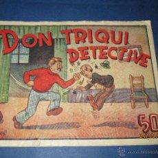 Tebeos: DON TRIQUI Nº 3 EN DETECTIVE DE AMELLER EDITOR - AÑO 1940S.. Lote 45397272