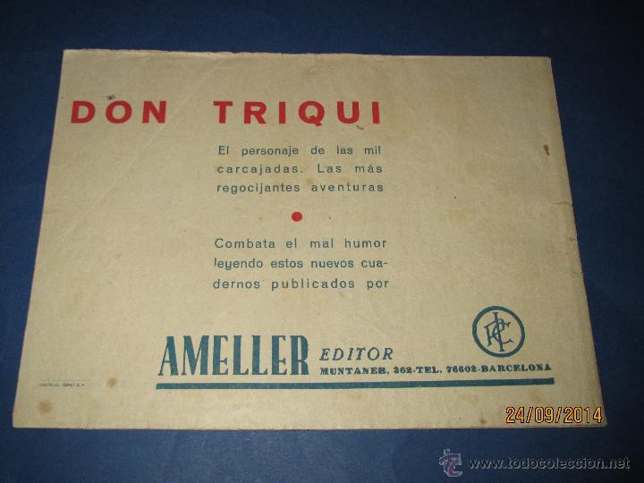 Tebeos: DON TRIQUI Nº 3 en DETECTIVE de AMELLER Editor - Año 1940s. - Foto 2 - 45397272