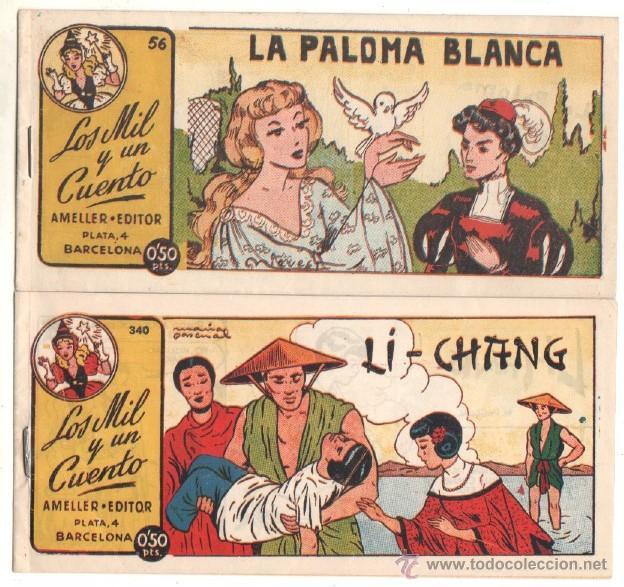 LOS MIL Y UN CUENTOS ORIGINAL EDI. AMELLER 1949 NºS 56 Y 340 -DIBUJOS DE MARÍA PASCUAL Y NIEVES ,NUE (Tebeos y Comics - Ameller)