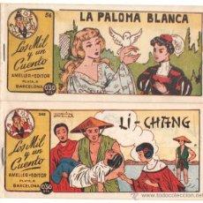 Tebeos: LOS MIL Y UN CUENTOS ORIGINAL EDI. AMELLER 1949 NºS 56 Y 340 -DIBUJOS DE MARÍA PASCUAL Y NIEVES ,NUE. Lote 52007259