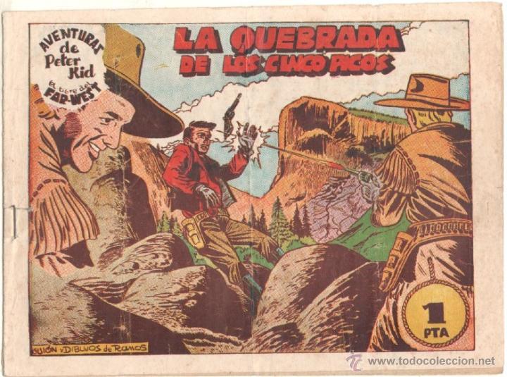 AVENTURAS DE PETER KID EL TIGRE DEL FAR WEST ORIGINAL Nº 25 - EDI. AMELLER 1950 - DIBUJOS DE RAMOS (Tebeos y Comics - Ameller)