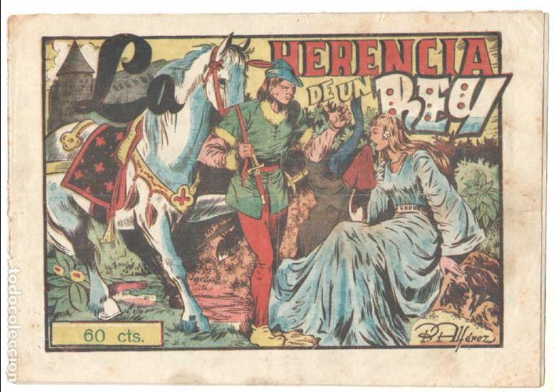 PUBLICACIONES INFANTILES AMELLER ORIGINAL Nº 1 AÑOS 40 - DIBUJA PEDRO ALFEREZ -LA HERENCIA DE UN REY (Tebeos y Comics - Ameller)