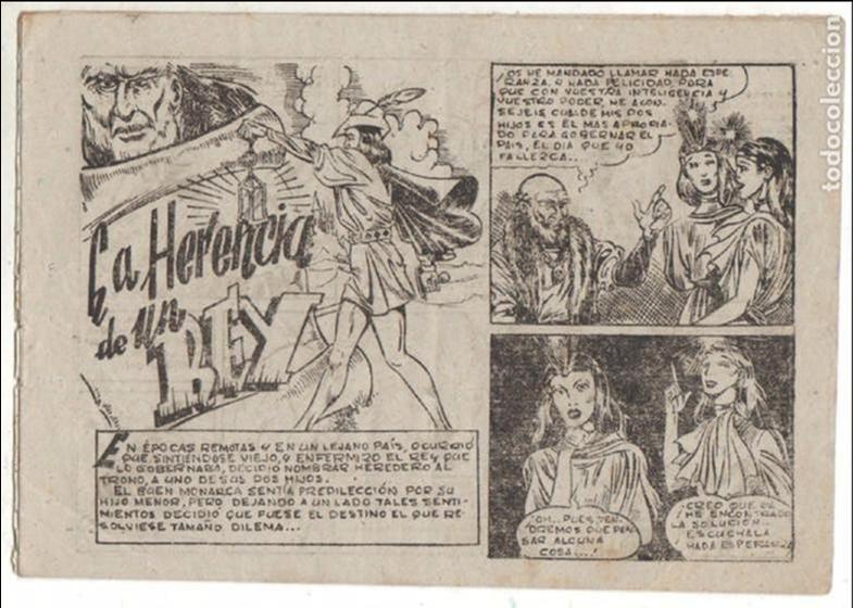 Tebeos: PUBLICACIONES INFANTILES AMELLER ORIGINAL Nº 1 AÑOS 40 - DIBUJA PEDRO ALFEREZ -LA HERENCIA DE UN REY - Foto 2 - 68878073