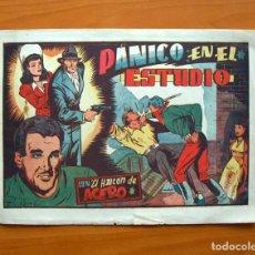 Tebeos: EL HALCÓN DE ACERO, Nº 11 PÁNICO EN EL ESTUDIO - EDITORIAL AMELLER 1944 - TAMAÑO 22X32. Lote 70025865