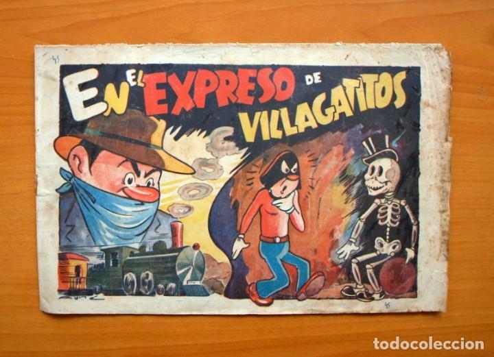 EL CABALLERO ENMASCARADO, Nº 8 EL EXPRESO DE VILLA GATITOS - EDITORIAL AMELLER 1945 - TAMAÑO 21X32 (Tebeos y Comics - Ameller)