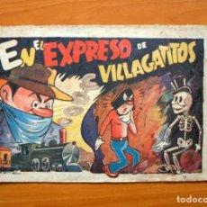 Tebeos: EL CABALLERO ENMASCARADO, Nº 8 EL EXPRESO DE VILLA GATITOS - EDITORIAL AMELLER 1945 - TAMAÑO 21X32. Lote 70026317