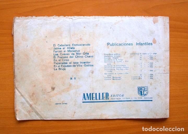 Tebeos: El caballero enmascarado, nº 8 El expreso de villa Gatitos - Editorial Ameller 1945 - Tamaño 21x32 - Foto 5 - 70026317