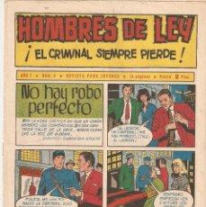 Tebeos: HOMBRES DE LEY, AÑO 1.961. Nº 6. ORIGINAL ES MUY DIFICIL. EDITORIAL CREO.. Lote 73069047