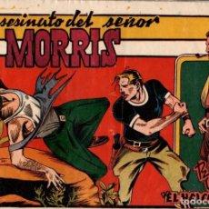 Tebeos: EL ASESINATO DEL SEÑOR MORRIS. RICARDO ALCOLEA. EL HALCON DE ACERO. Nº 7. EDITORIAL AMELLER. AÑOS 40. Lote 74970115