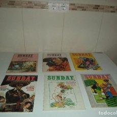Tebeos: SUNDAY AÑO 1976 Nº 5 - 6 - 10 - 12 - 13 -14 REVISTAS SOBRE ESTUDIOS E INVESTIGACIÓN DE LA HISTORIETA. Lote 96736179
