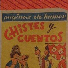 Tebeos: CHISTES Y CUENTOS.CUADERNO Nº 5.AMELLER.BARCELONA.AÑOS 40?. Lote 99763699