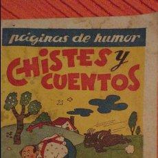 Tebeos: CHISTES Y CUENTOS.CUADERNO Nº 4.AMELLER.BARCELONA.AÑOS 40?. Lote 99763791