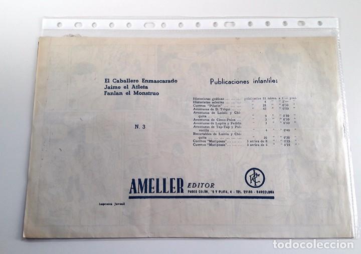 Tebeos: EL CABALLERO ENMASCARADO Nº 3. PERFECTO ESTADO. AMELLER 1945 - Foto 2 - 103284483