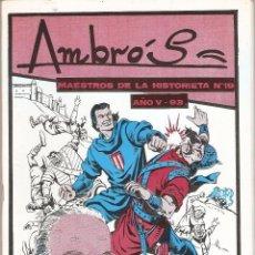Tebeos: AMBRÓS, TODO SOBRE SU VIDA Y OBRA, MAESTROS DE LA HISTORIETA, Nº 19. AÑO V. 93. ESTA MUY NUEVO.. Lote 108964175