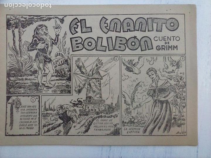 Tebeos: AMELLER - EL ENANITO BOLIBÓN - CUENTO DE GRIMM - ORIGINAL 1942 - Foto 2 - 111926159