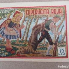 Tebeos: HISTORIETAS GRAFICAS PILARIN , N.5 , CAPERUCITA ROJA , F. BATET , AMELLER 1942. Lote 130508490