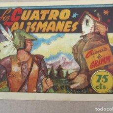 Tebeos: HITORIETAS GRAFICAS PILARIN , N.26 , LOS CUATRO TALISMANES , CUENTO DE GRIMM , AMELLER 1942. Lote 130509654