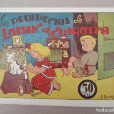 Tebeos: LAS PERIPECIAS DE LUISIN Y CHIQUITA , NUMERO 2 , AMELLER 1943 , E. BOMBOM. Lote 130541986