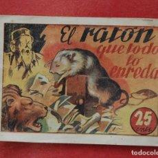 Tebeos: CUENTOS MARIPOSA 2ª COLECCION - EL RATON QUE TODO LO ENREDA - ED. AMELLER. Lote 133775102