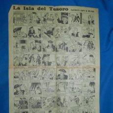 Tebeos: (M0) ALELUYA - LA ISLA DEL TESORO SUPLEMENTO REGALO DE BOLICHE , 43'5 X 32 CM, SEÑALES DE USO. Lote 141311206
