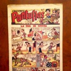 Tebeos: PANTUFLAS-AMELLER-1946-LA PIEL DE ZORRA-NÚMERO 7-RARO-BUEN ESTADO. Lote 143655274