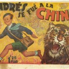 Tebeos: ANDRES SE FUE A LA CHINA ORIGINAL DE AMELLER. Lote 146442790