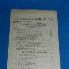 Tebeos: (M1) CATALOGO AMELLER EDITOR, BARCELONA AÑOS 40 , 1 HOJA , BUEN ESTADO. Lote 150001418