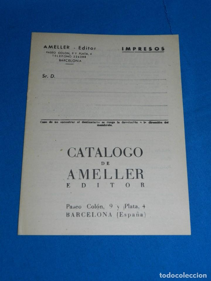 (M1) CATALOGO AMELLER EDITOR, BARCELONA AÑOS 40 , 16 PAG, BUEN ESTADO (Tebeos y Comics - Ameller)