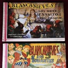 Tebeos: COLECCION COMPLETA DE BLANCANIEVES 1 Y 2 , AMELLER , 1945 , ORIGINAL (NO ES REEDICIÓN).. Lote 155803990