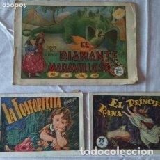 Tebeos: LOTE DE TRES CUENTOS PAPEL EDITORIAL AMELLER. LA FOSFORERITA /PRÍNCIPE RANA/EL DIAMANTE MARAVILLOSO. Lote 177982774