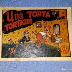 Tebeos: DON TRIQUI UNA TORTA QUE TRAE TORTAZOS Nº 154 AMELLER EDITOR ORIGINAL AÑOS 40 VER FOTO Y DESCRIPCION. Lote 178105764