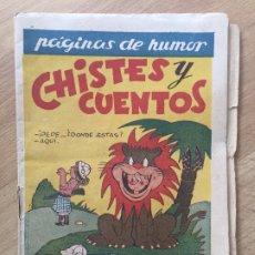 Giornalini: CHISTES Y CUENTOS, NUMERO 1 - AMELLER, ORIGINAL - GCH. Lote 178569342
