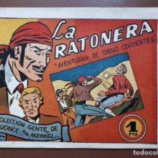 Giornalini: LA RATONERA. AVENTURAS DE DIEGO CORIENTES - AMELLER - 1950 RESERVADO RICARDO. NO COMPRAR. Lote 196103231