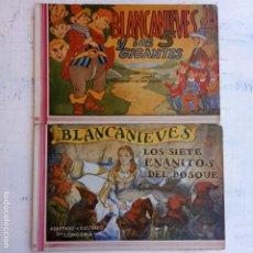 Tebeos: BLANCANIEVES 1 Y 2: COMPLETA (AMELLER, 1945). CON LOS 7 ENANITOS Y LOS 5 GIGANTES. DIBUJO LONGORIA. Lote 200863501