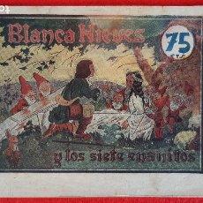 Giornalini: RARO TEBEO DE BLANCA NIEVES BLANCANIEVES Y LOS SIETE ENANITOS AMELLER 75 CTS. ORIGINAL CT1. Lote 209637730