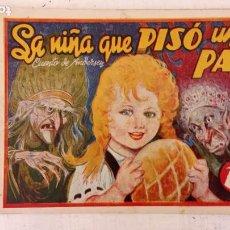 Tebeos: LA NIÑA QUE PISÓ UN PAN - CUENTO DE ANDERSEN - Nº 38 MONOGRÁFICO AMELLER AÑO 1942 ORIGINAL. Lote 212272578