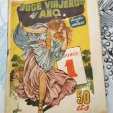 Giornalini: LOS DOCE VIAJEROS DEL AÑO TOMAS PORTO ED. AMELLER CUENTOS PILARIN EXTRA N.º 1 1943 EXTRA NAVIDAD. Lote 217491820